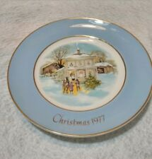 Vintage 1977 Christmas Plate Series Fifth Edition Carollers In The Snow.