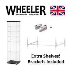 Shelves for IKEA DETOLF, add 1,2,3... extra shelves! Shelf and brackets included