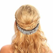 Kristin Perry Crystal Hair Grip Headpiece Headband