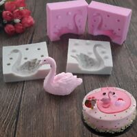 3D Swan Fondant Silicone Mold Candle Sugar Craft Tool Chocolate Mould NE8