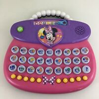 Vtech Minnie Mouse Purse Computer Learning Laptop Educational ABCs Toy Disney