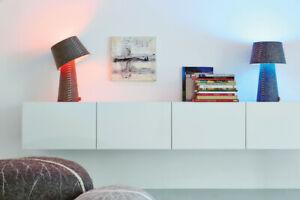 Moree Filzlampe ALICE grau Tischlampe Hängelampe Designerlampe LED Multicolor