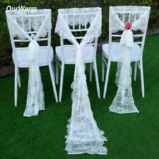 10Pcs Floral Table Runner White Lace Tablecloth Boho Wedding Home Table Decor
