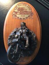 "Bronze Sculpture Harley Rider 7"" x 11"" Sturgis South Dakota 50th Anniversary"