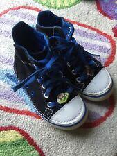 Crocs Boys Preschool Sz 11 Black Canvas High Top Shoes Sneakers