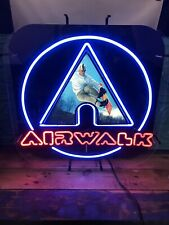 Airwalk Neon Light-up Sign Featuring Snowboarder Hard To Find Late 90s Piece