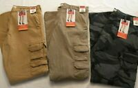 NWT NEW MEN'S Wrangler Cargo TAPER LEG FIT Regular Pant Stretch Flex 8 Pocket