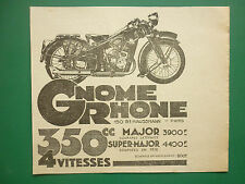 7/1936 PUB GNOME-RHONE MOTOS SUPER MAJOR MAJOR 350 CC MODELE 1936 ORIGINAL AD