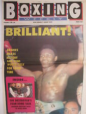 Boxing Weekly Magazine 7 Aug 1990 Andries-Harding Watson Mason Clinton,