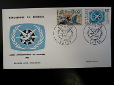 SENEGAL AERIEN 297/98   PREMIER JOUR FDC   TOURISME ,HIPPOPOTAME   100+50F  1967