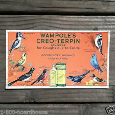 Original 1910 WAMPOLE'S CREO-TERPIN MEDICINE Goodfellows Pharmacy Old Blotter