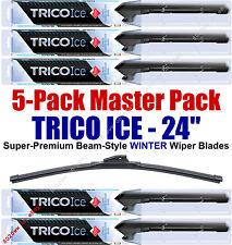 "5 Pack 24"" WINTER Wiper Blades Super-Premium Beam-Style Trico ICE 35-240 (x5)"