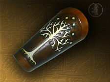 Hand Carved Leather Archery Bracer,Arm guard.Tree of Gondor.Christmas Present!!