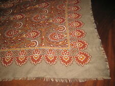 Beautiful Scarf for Fall & Winter Floral Gray Wine Brown Made in Italy 46X47