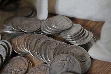 1916-1947 Walking Liberty Half Dollar 90% Silver Circulated Lot of 50 Coins