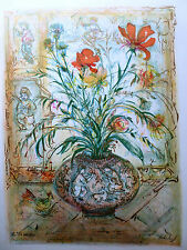 Edna Hibel - THISTLE ROSE & DAY LILY- Hand Signed & Nmbrd Limited Edition- Mint