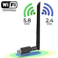 1200 Mbit/s Wireless USB Wifi Adapter Band 2,4 G / 5 GHz mit Antenne 802.11AC