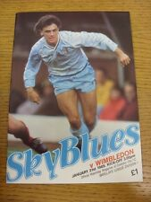 21/01/1989 Coventry City v Wimbledon  . Thanks for viewing this item, buy with c