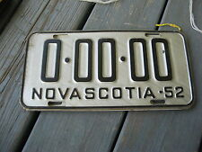 1952 52 NOVA SCOTIA CANADA SAMPLE LICENSE PLATE NICE TAG BY IT NOW