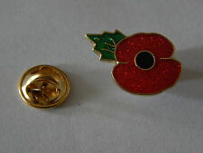 Poppy Lapel Badge (Medium size 21mm), Glitter finish - Leaf at 11am