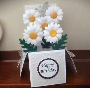 Daisy Flower themed birthday /mothers day /any occasion pop up card