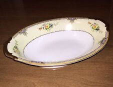 """Vintage Meito China 11"""" x 7-3/4"""" Serving Dish Hand Painted Japan, GREAT SHAPE!"""