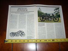 BROUGH SUPERIOR MOTORCYCLE - ORIGINAL 1986 ARTICLE