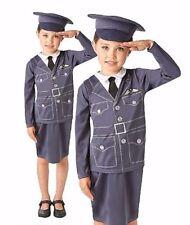 Kids WRAF Air Force Girls Fancy Dress World War One Child Uniform Costume 1940's