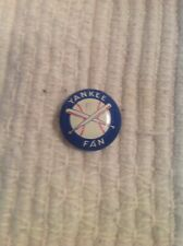 Vintage Baseball Team Pins A Yankee Fan Pin Back Pinback Button