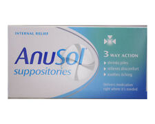 Anusol Haemmorhoid Piles Treatment 3 way action internal relief Suppositories 12