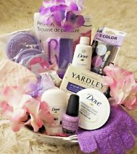 Women's Any Occasion  Dove Bath Body Beauty Pedi Mani Spa Chocolate Gift Basket