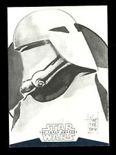 Topps Star Wars Force Awakens Series 2 Sketch STORMTROOPER by Francois Chartier