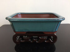 Rectangular Bonsai Pot Chinese Yixing Mame Shohin Glazed 15.5x11x5cm