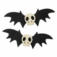 1Pair Gothic Skull Bat Wing Hair Clip Halloween Fancy Dress Cosplay Headwear