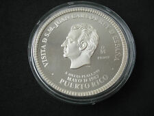1987 Mexico 5 Onzas, ounces proof silver, Puerto Rico, Juan Carlos, Spain - rare