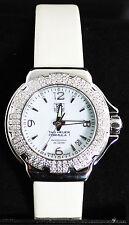 WAC1215.FC6219 Tag Heuer Formula 1 Glamour Diamonds Ladies White Satin Watch
