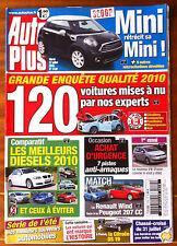AUTO PLUS du 27/07/2010; Grande enquête qualité 120 voitures mises à nu