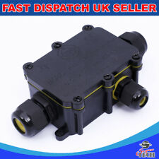 3 Way 24A 450V IP68 Waterproof Electrical Cable Wire Connector Junction Box UK