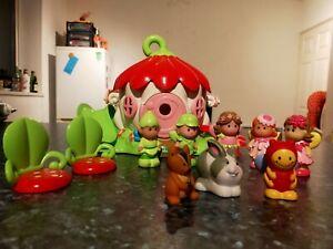 ELC Happyland Flower House With Animals + Fairy Figures 13 Piece Bundle Toy Set