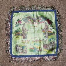 Vintage 1940's Ww2 Us Army Panama Sweetheart Pillow Sham