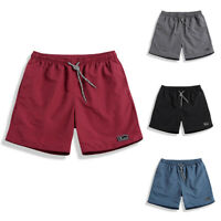 Summer Men Shorts Swimwear Casual Beach Solid Sports Running Plus Size M-5XL