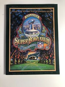 Super Bowl XXVIII 1994 Georgia Dome Program -Special Jacksonville Jaguars