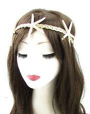 gold creme echte Seestern Stirnband Meerjungfrau Maskenkostüm See Ariel 632
