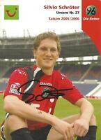 Silvio Schröter - Hannover 96 - Saison 2005/2006 - Autogrammkarte