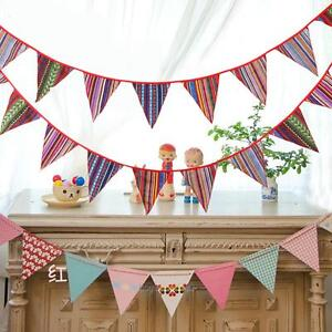 10.49ft Ethnic Style Cotton Bunting Pennant Flag Banner Garland Home Party Decor