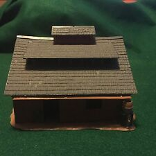 Vintage fully assembled Plastic Red Barn  Model Train or Table Top Scenery