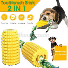 Pet Dog Molar Bite Teeth Dental Cleaning Chew Interactive Toy Chewing Corn Rope
