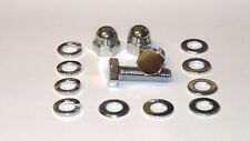 Kawasaki Z500 / Z550 Top and Bottom Shocks Bolts Set - CHROME