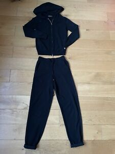 loro piana women suit black cashmere size S