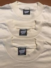 Lot of 3 Vintage NOS Blank Off white Screen Stars T Shirts 50/50 DEADSTOCK USA